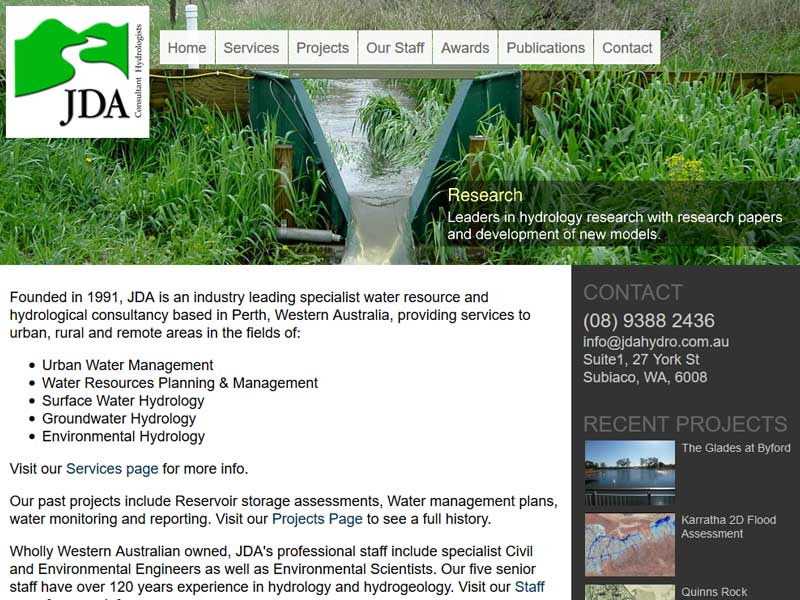 JDA Perth Hydrologist Picture
