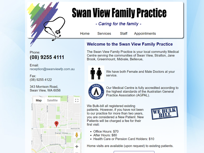 Swan View Medical Centre Website